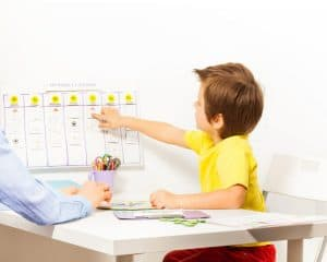 Weekly Picture Schedule autism language learning